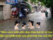 """Tranh vui - Ảnh chế nhân dịp Hà Nội lại mưa - ngập """"định kỳ"""""""