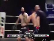 """Thể thao - MMA: """"Kẻ cướp"""" đụng người hùng, lăn như bi trên sàn"""