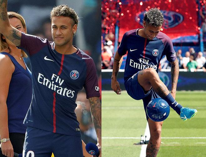 Neymar ra mắt trăm nghìn CĐV PSG: Hoành tráng như siêu sao Hollywood - 3