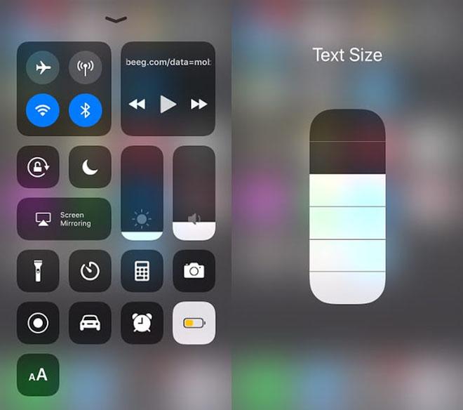Cách phóng to kích thước văn bản hiển thị trên thiết bị iOS 11 - 3