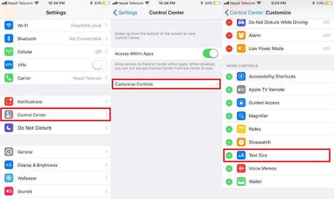 Cách phóng to kích thước văn bản hiển thị trên thiết bị iOS 11 - 2