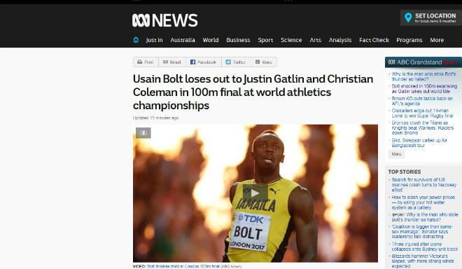 """Xem Ảnh đọc báo tin tức Báo chí thế giới chấn động: Bolt cúi đầu trước """"Kẻ phản diện vĩ đại"""" - Thể thao - Tin tức 24h và truyện phim nhạc xổ số bóng đá xem bói tử vi 4 Telegraph"""