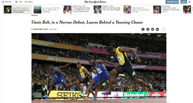 """Báo chí thế giới chấn động: Bolt cúi đầu trước """"Kẻ phản diện vĩ đại"""" - 1"""