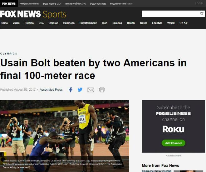 """Báo chí thế giới chấn động: Bolt cúi đầu trước """"Kẻ phản diện vĩ đại"""" - 3"""