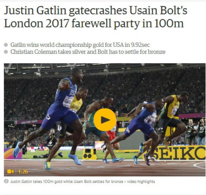 """Báo chí thế giới chấn động: Bolt cúi đầu trước """"Kẻ phản diện vĩ đại"""" - 2"""