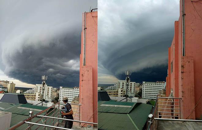 Sự quái lạ của đám mây đen tựa UFO xuất hiện ở Sầm Sơn - 2