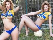Thời trang - Mẫu nội y liều lĩnh cởi để cổ vũ CLB bóng đá Ý 104 tuổi