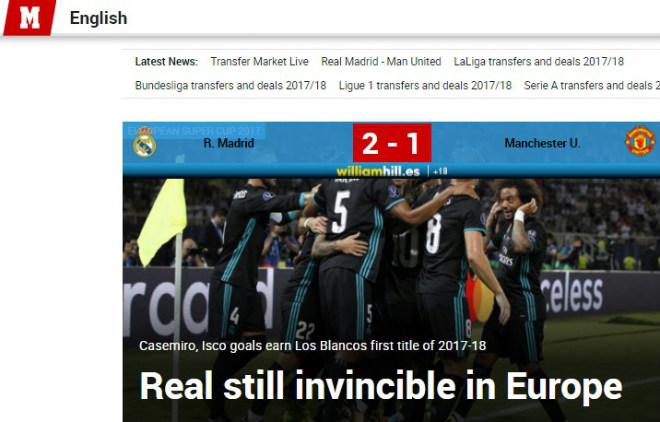 Báo chí thế giới: Real bất khả chiến bại, MU - Mourinho thua tâm phục