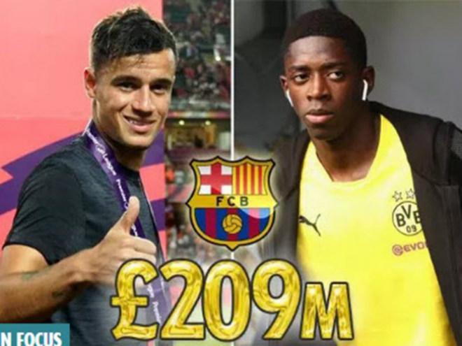 """Barca kích hoạt """"bom tấn kép"""" 209 triệu bảng rung chuyển trời Âu"""