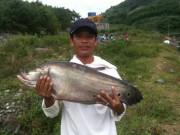 Cần thủ Quảng Nam câu được cá thác lác  khủng