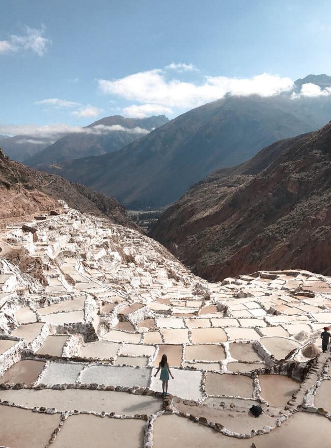 Kỳ quan hồ muối bậc thang độc đáo ở Peru - ảnh 1
