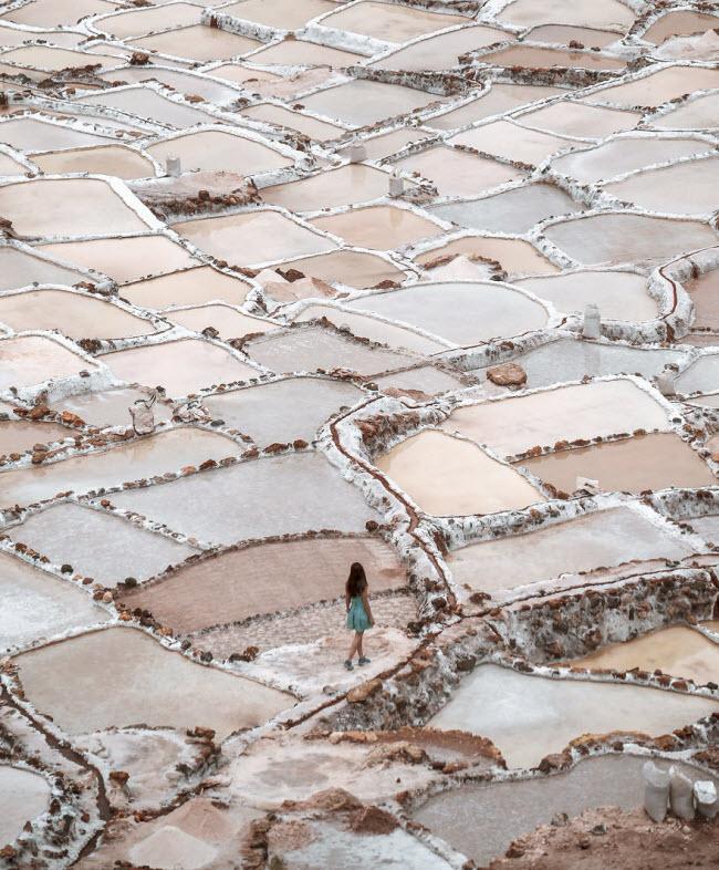 Kỳ quan hồ muối bậc thang độc đáo ở Peru - ảnh 7