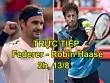 TRỰC TIẾP tennis Federer - Robin Haase: 'Tàu tốc hành' quá mạnh