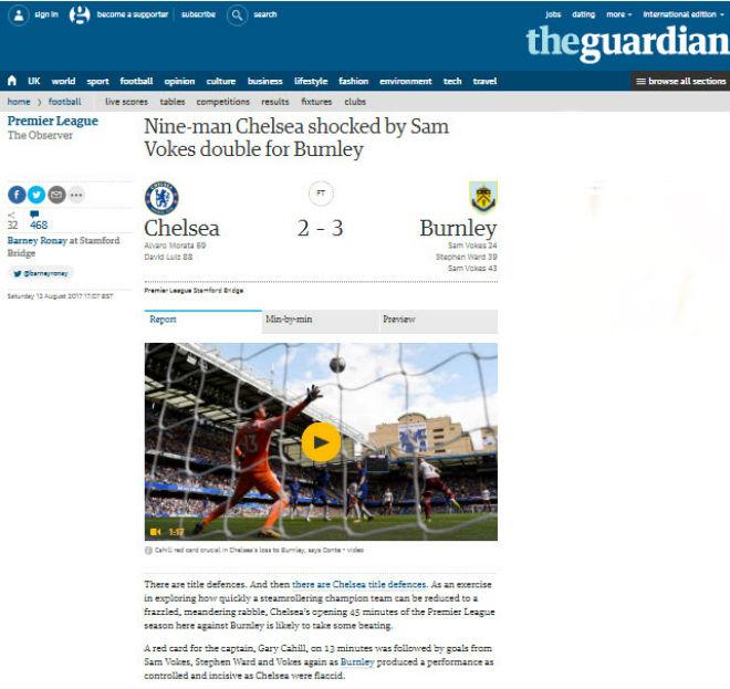 """Chelsea """"vỡ mặt"""": Báo chí thế giới khen Morata, mắng Conte thậm tệ - 6"""