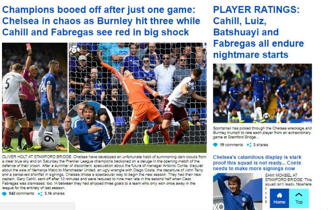 """Chelsea """"vỡ mặt"""": Báo chí thế giới khen Morata, mắng Conte thậm tệ - 4"""