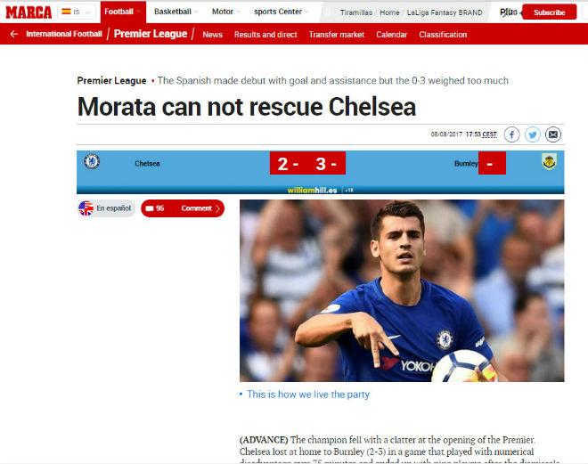 """Chelsea """"vỡ mặt"""": Báo chí thế giới khen Morata, mắng Conte thậm tệ - 8"""