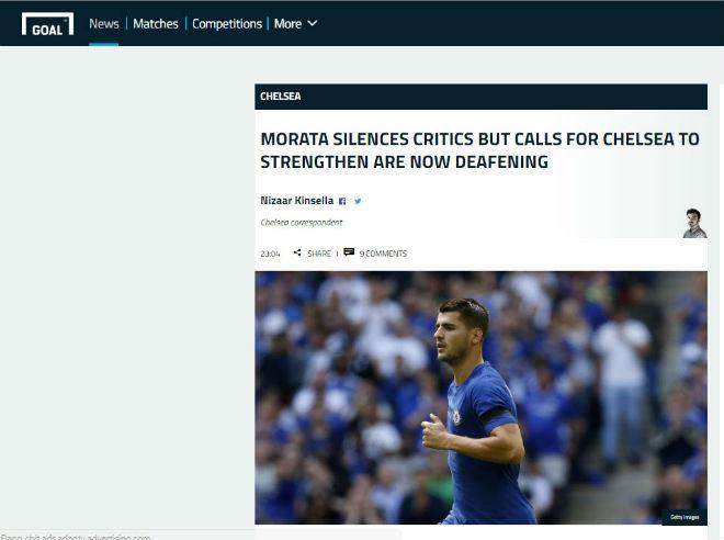 """Chelsea """"vỡ mặt"""": Báo chí thế giới khen Morata, mắng Conte thậm tệ - 7"""