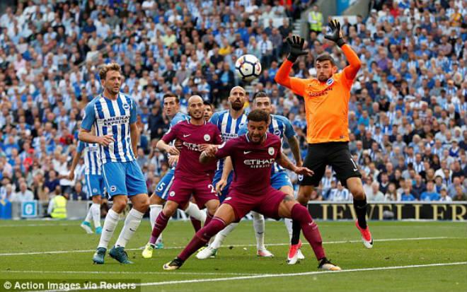 Video, kết quả bóng đá Brighton - Man City: Penalty hụt và 2 sai lầm chí tử (Vòng 1 Ngoại hạng Anh) - ảnh 1