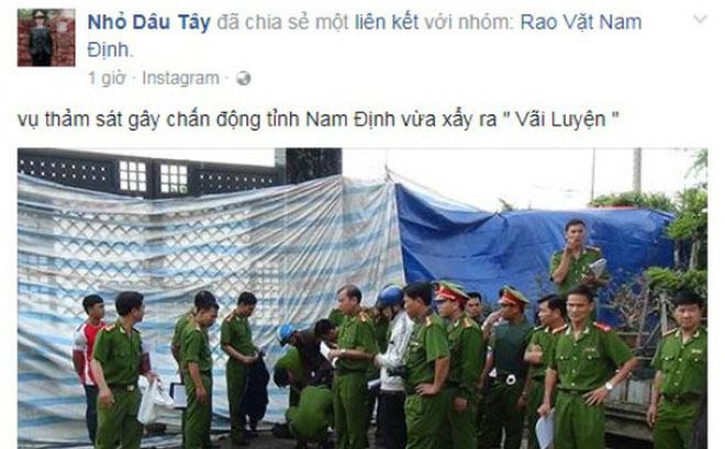 Công an Nam Định bác tin đồn thảm án 8 người chết - ảnh 1