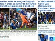 """Bóng đá - Chelsea thua sốc: """"Triệu fan"""" MU hả hê, báo chí khen Morata, mắng Conte"""