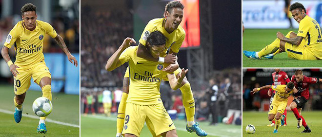 Guingamp - PSG: Siêu sao Neymar ra mắt siêu đẳng