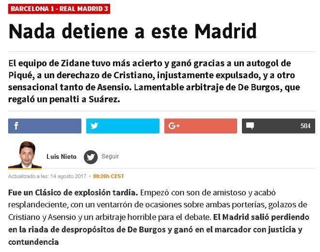 """Real thắng đậm: Zidane bênh vực Ronaldo, báo chí """"mắng xối xả"""" Barca - 1"""