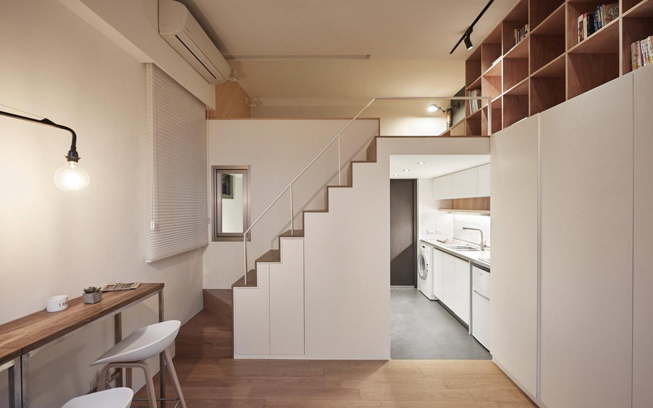 """Cách sắp xếp đáng học hỏi biến căn hộ 22m2 thành rộng """"thênh thang"""" - 3"""