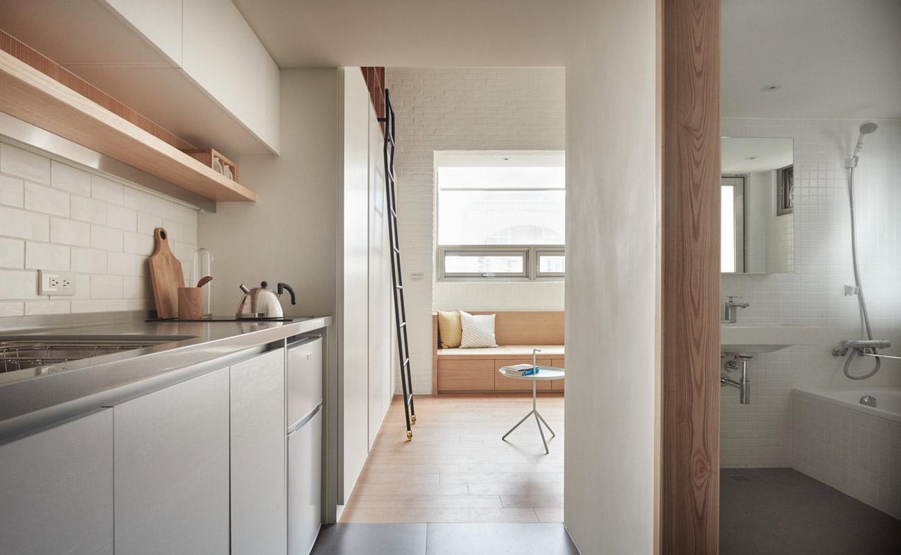 """Cách sắp xếp đáng học hỏi biến căn hộ 22m2 thành rộng """"thênh thang"""" - 4"""