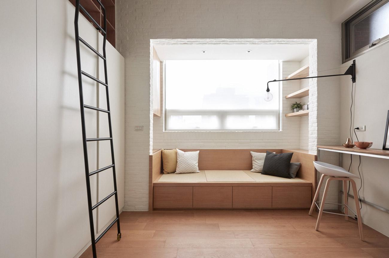 """Cách sắp xếp đáng học hỏi biến căn hộ 22m2 thành rộng """"thênh thang"""" - 7"""