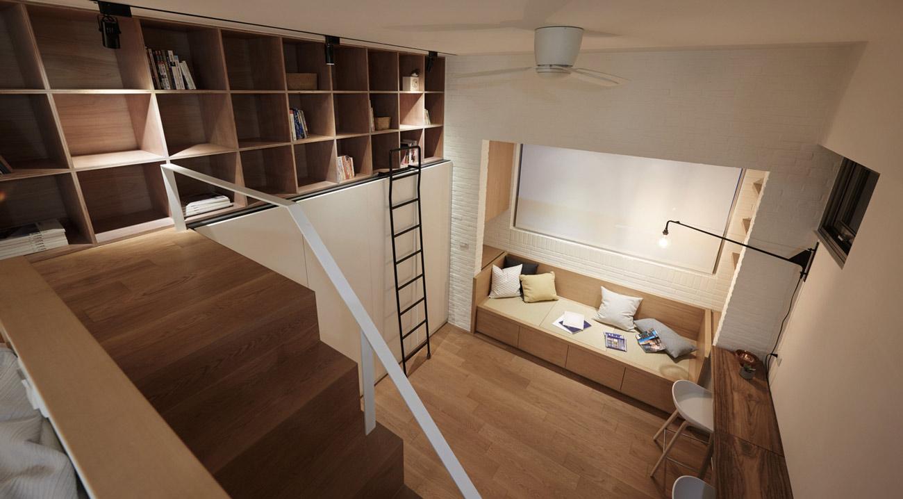 """Cách sắp xếp đáng học hỏi biến căn hộ 22m2 thành rộng """"thênh thang"""" - 5"""