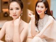 """"""" Vợ Phan Hải """"  mặc váy nude đẹp át hai nàng hoa hậu Việt"""