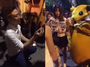 """Màn cầu hôn lãng mạn khiến bạn gái sợ  """" xanh mặt """"  ở Hà Nội"""