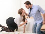 Chồng ôm eo gái trẻ vào khách sạn để  tư vấn việc làm