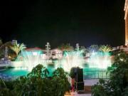 Giải trí hấp dẫn về đêm với nước và lửa giữa hồ Tràm