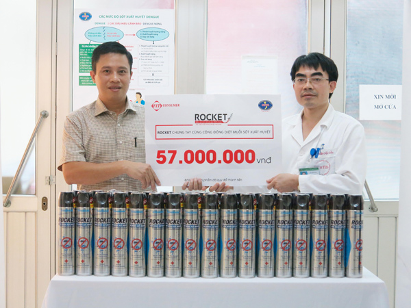 Rocket và Bệnh viện Nhiệt Đới Trung Ương phát động chiến dịch diệt muỗi - 3