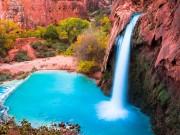 """"""" Phát cuồng """"  vì thác nước đẹp không tưởng ẩn mình trong hẻm núi"""