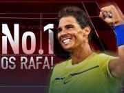 Bảng xếp hạng tennis 21/8: Nadal vượt Murray, lần thứ 4 làm vua