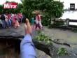 Ấn Độ: Cả gia đình sắp chạy hết cầu thì lũ cuốn chết thảm