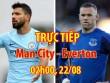 TRỰC TIẾP Man City - Everton: Sao 50 triệu bảng nhận thẻ đỏ