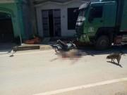 Xe máy gãy đôi, 2 người chết tại chỗ sau cú đấu đầu kinh hoàng với xe tải