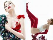 Chân dài Việt táo bạo phủ thân mình bằng những cánh hoa