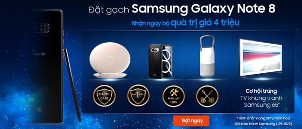 Đặt gạch Samsung Note 8 nhận ngay bộ quà trị giá 4 triệu tại Viễn Thông A - 1