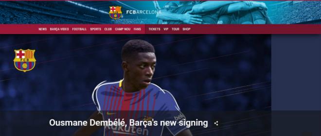"""Siêu bom tấn"" Dembele 105 triệu euro CHÍNH THỨC đến Barcelona"