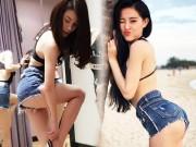 Quần 5cm cũn cỡn tiết lộ vòng 3 thật sự của mỹ nữ Việt
