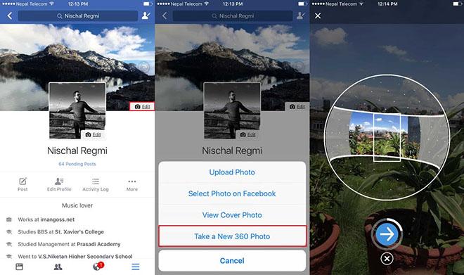 Dùng ảnh 360 độ làm ảnh bìa cho Facebook bằng iPhone - 2