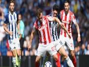 Video, kết quả bóng đá West Brom - Stoke City: So tài rực lửa, bất phân thắng bại
