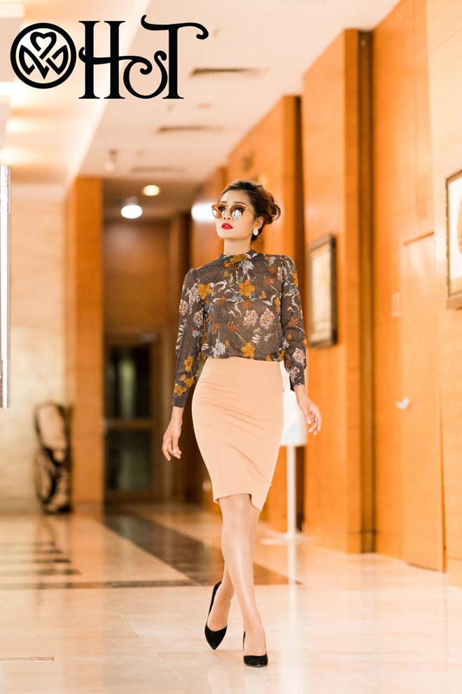 Thanh lịch, quyến rũ trong BST Thu 2017 của Thời trang H&T - 3