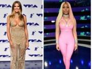 Sao đua nhau khoe vòng 1 khủng trên thảm đỏ MTV VMAs 2017