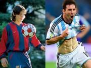 """Messi: Chàng còi tưởng chỉ cao 1m4 thành cầu thủ 1m7, cơ bắp  """" hoành tráng """""""