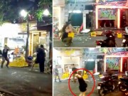 An ninh Xã hội - Clip: Cô gái hùng hổ cùng nhóm thanh niên tấn công quán bar